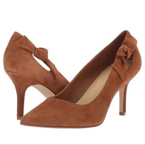 Marc Fisher Suede Knotted Thunder Pump Brown NEW